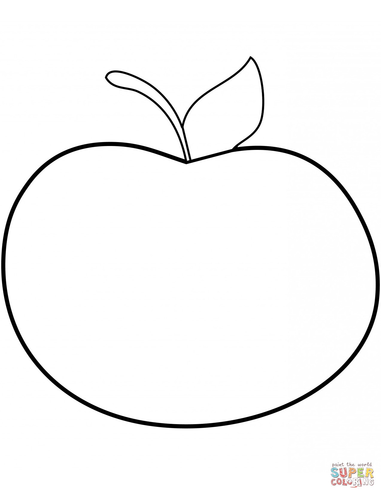 1273x1648 Apple Color Page Coloring To Sweet Draw Printable Coloring Pages