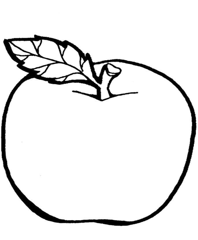 685x830 Apple Drawing For Kids