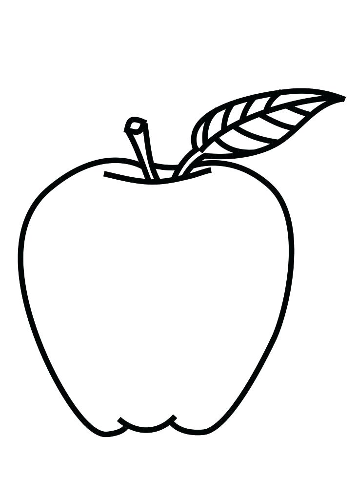 732x1024 Apple Color Pages Outline Drawing Pics Of Coloring Page Clip Art