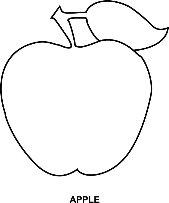 562x674 Apple Coloring Pages The Sun Flower Pages