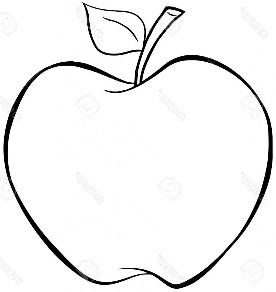 Line Drawing Apple : Apple drawing for kids at getdrawings free