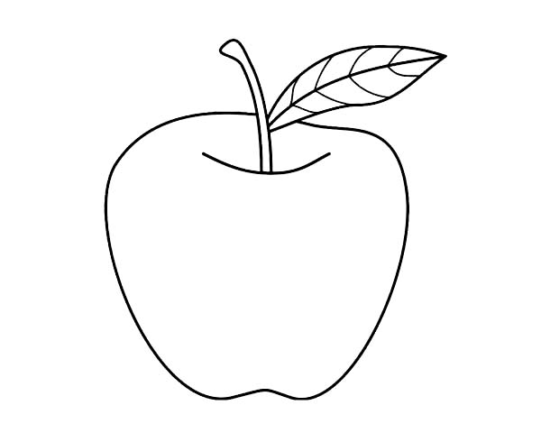 Apple Drawing For Kids at GetDrawingscom Free for personal use