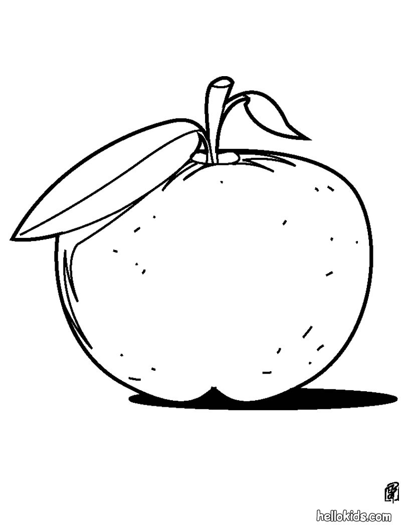 820x1060 Apple Coloring Pages