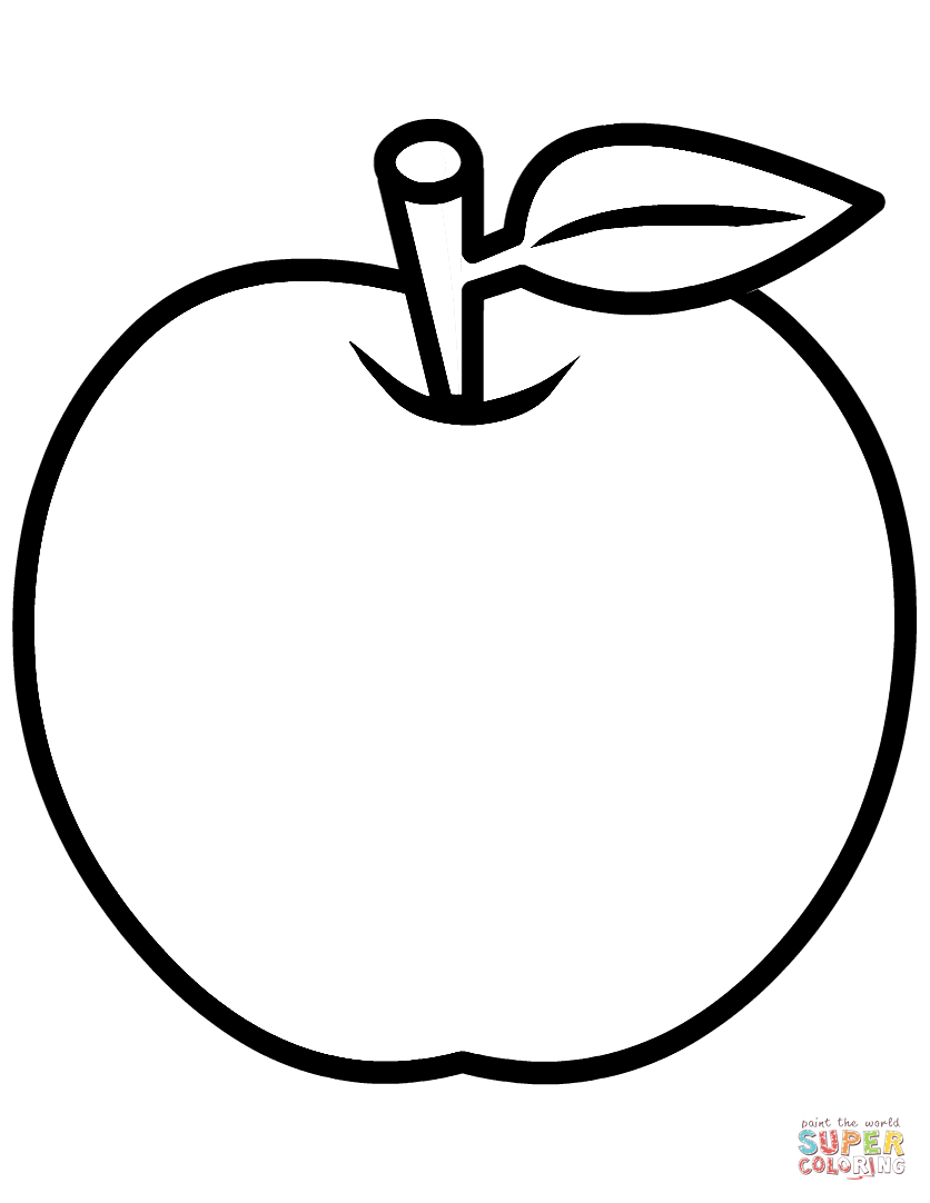 836x1082 Apples Coloring Pages Free