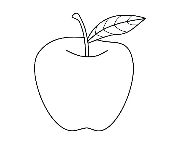 600x480 This Is Apple Coloring Page Pictures Pages Easy