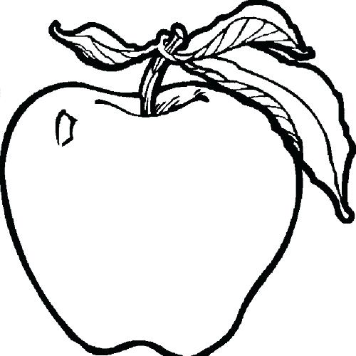 500x500 Apple Colouring Page A Is For Apple Coloring Page Printable Apple