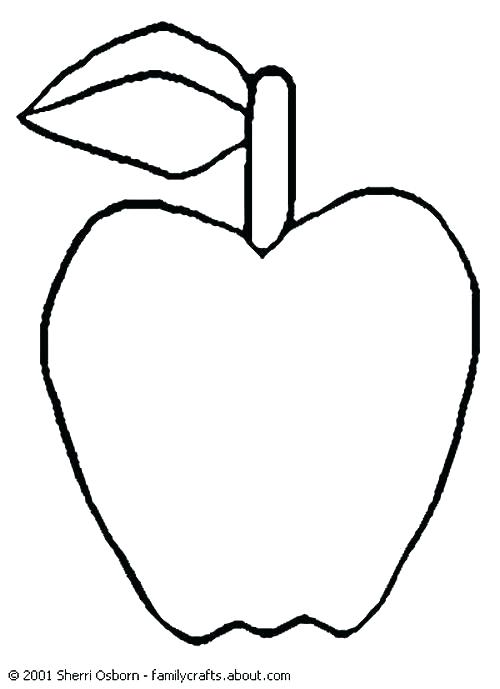 500x689 Apple Coloring Pages Apple Color Page Apple Coloring Pages