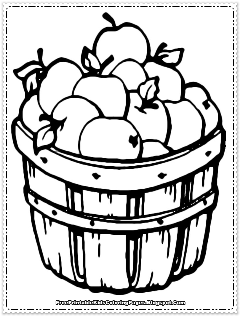 810x1066 Apple Fruit Coloring Pages Printable