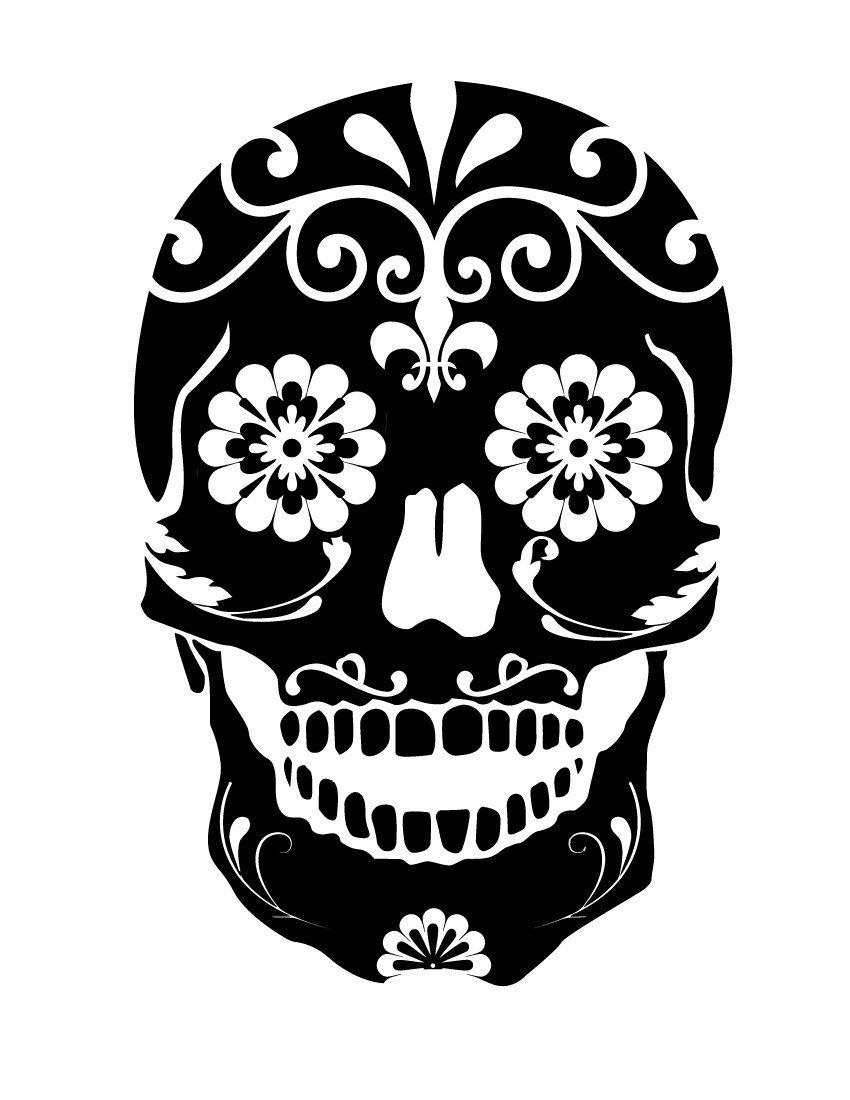 850x1100 Sugar Skull Dia De Los Muertos