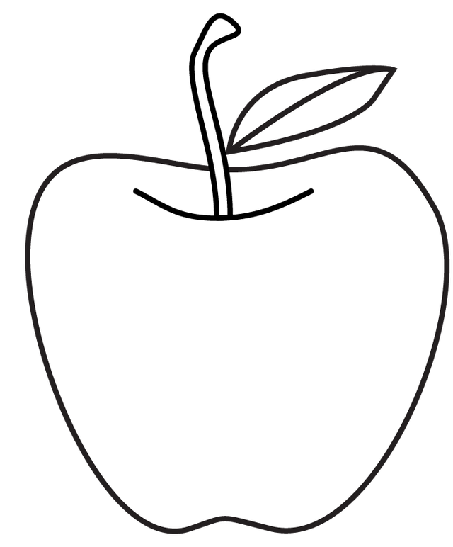 Apple Line Drawing