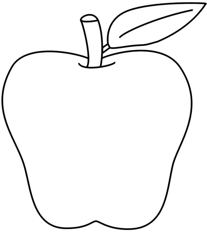 Apple Line Drawing at GetDrawings.com | Free for personal use Apple ...