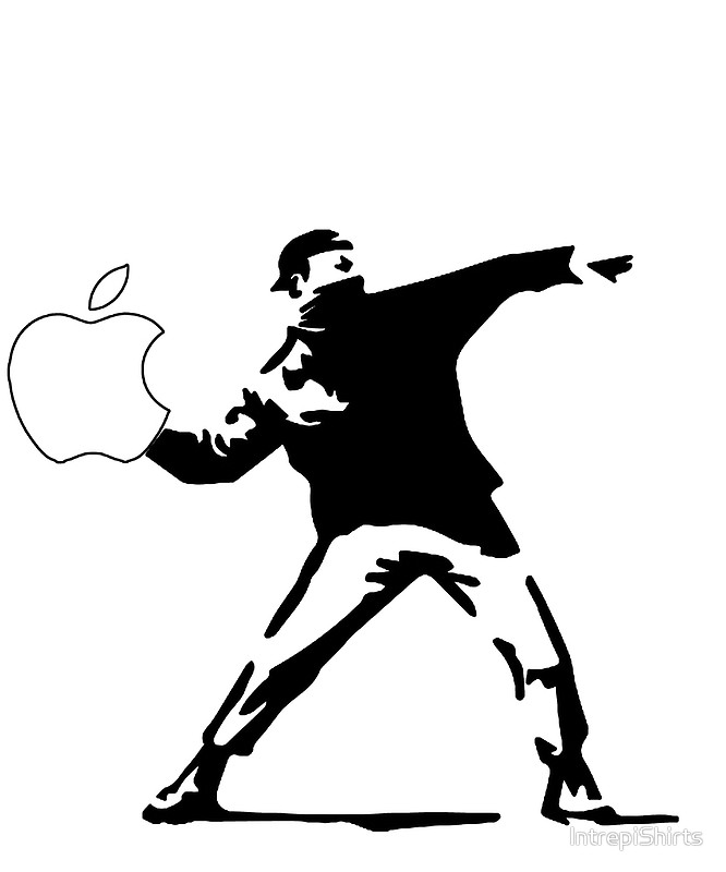 666x800 Banksy Apple Logo Posters By Intrepishirts Redbubble