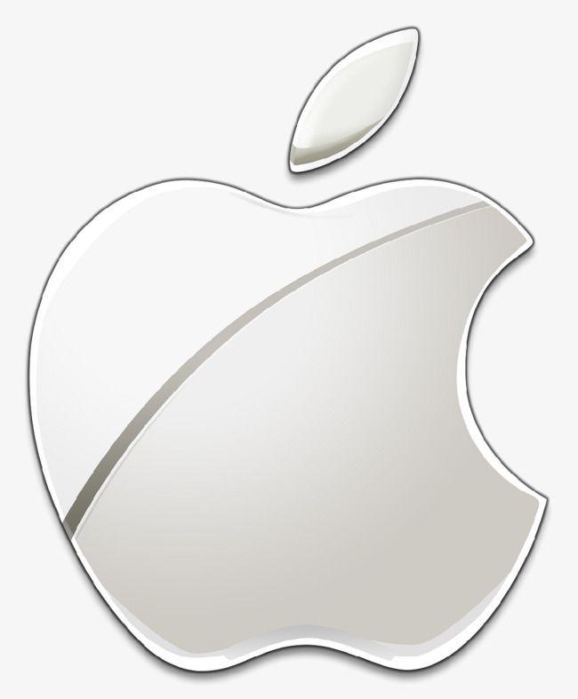 650x787 Brilhante Cor De Platina Apple Logo, O Logotipo Da Apple., Pintado