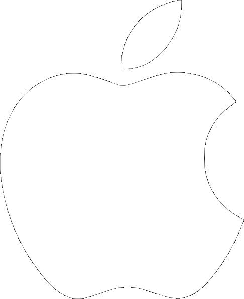 486x596 White Apple Logo On Black Background Clip Art