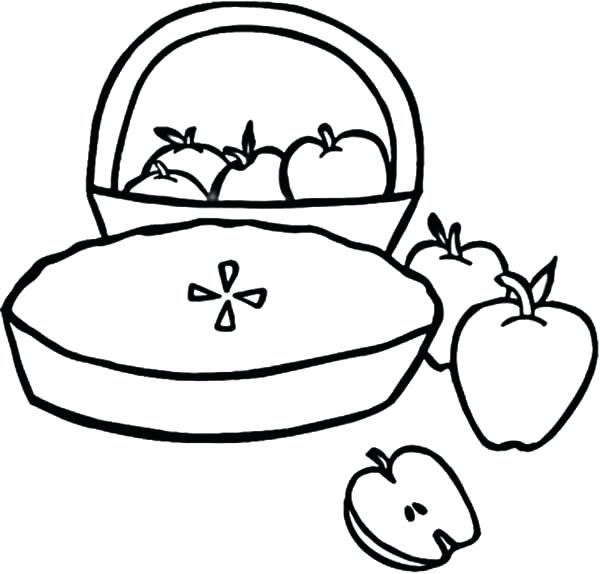 600x574 Coloring Pages Of Apples Apple To Print Free