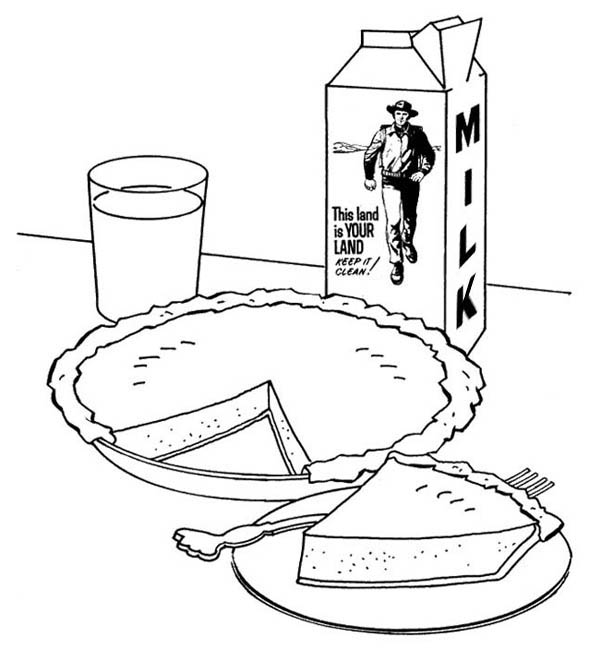 600x662 Pictures Of Apple Pie And Milk Carton Coloring Page