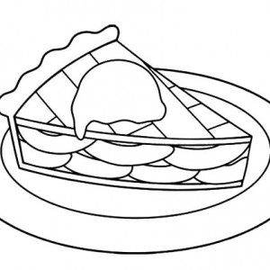 300x300 Sweet Cake Slice Apple Pie Coloring Pages Best Place To Color