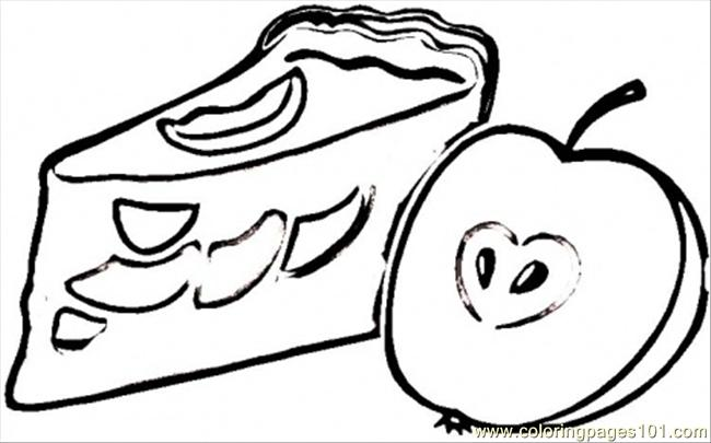 650x405 Apple Pie Coloring Page