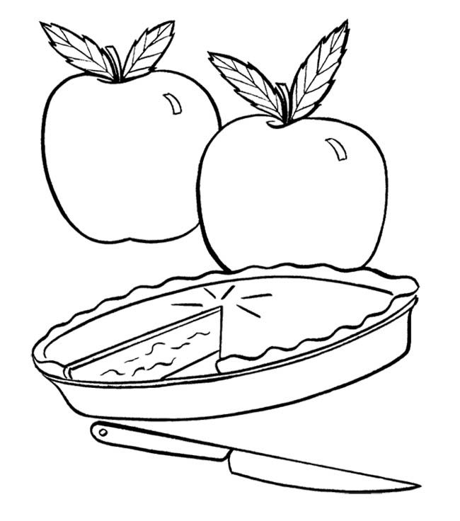 650x736 Apple Pie Coloring Sheet Page