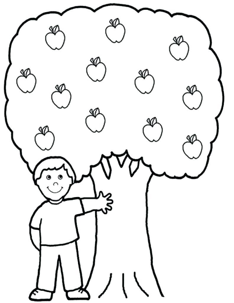 792x1024 Coloring Apple Tree