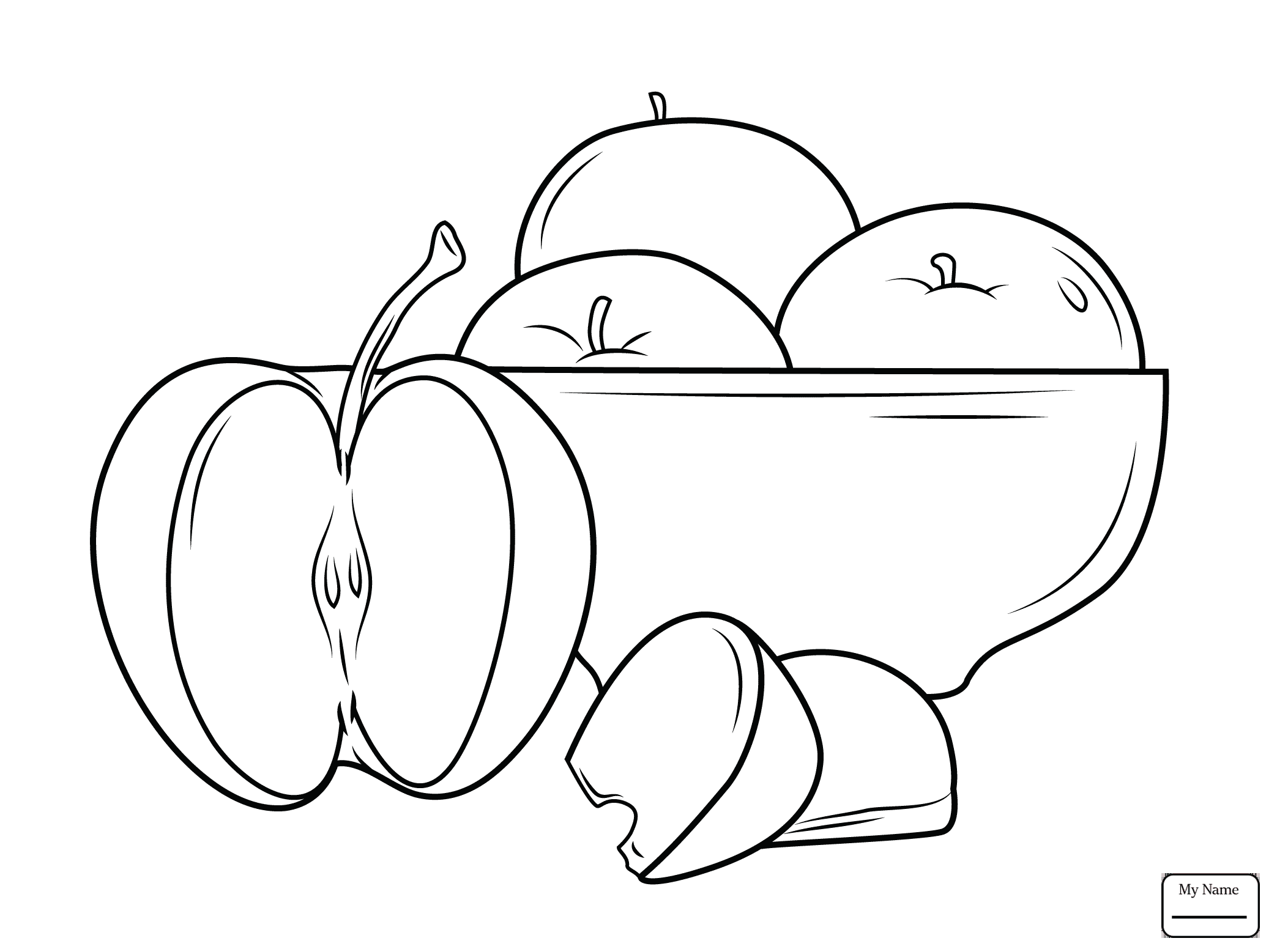 2087x1557 Bad Skin Apple Apples Fruits Coloring Pages For Kids
