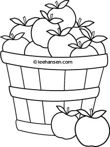 224x300 Basket Of Apples Farm Stand Coloring Sheet, Free Printable