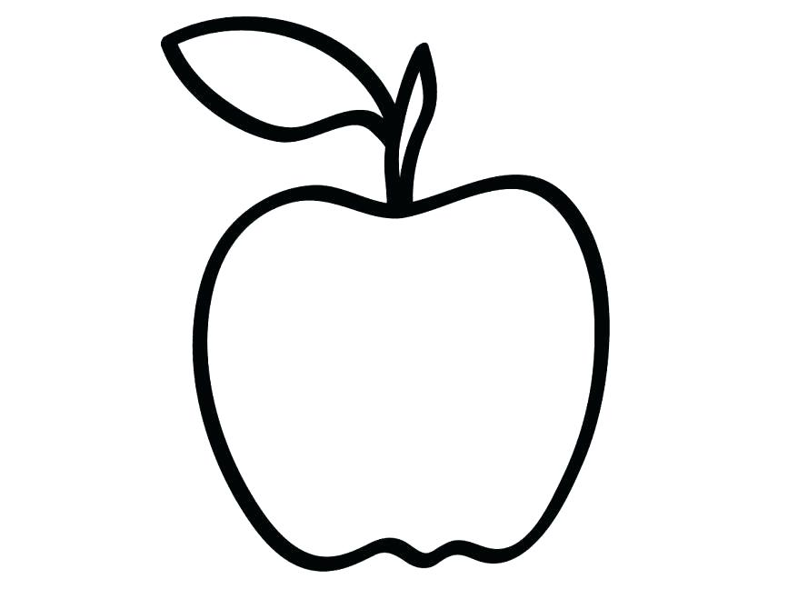 878x659 Coloring Picture Of An Apple Drawing Basket Pages