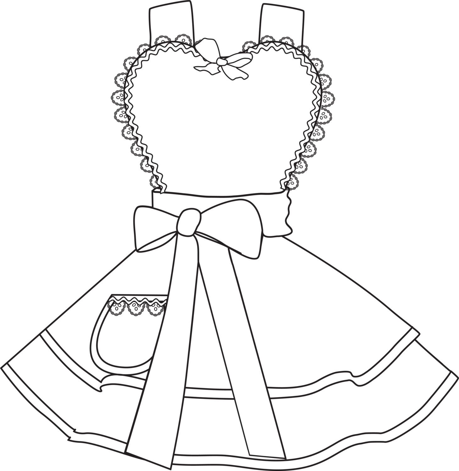 1460x1500 Design Your Own Apron 4 Coloring Pages Digital Instant Download