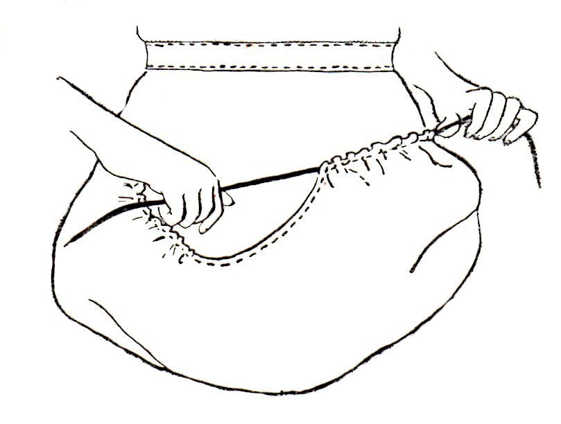 809x612 Free Basket Apron Pattern To Sew For Use In Your Home And Garden