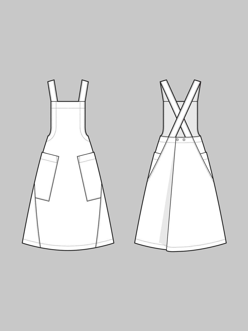 1000x1333 Apron Dress Pattern The Assembly Line