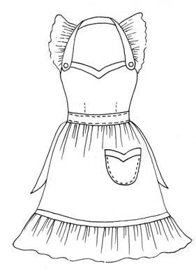 281x387 Hand Drawn Apron