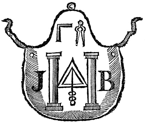 478x405 Early Masonic Regalia 1787 Apron