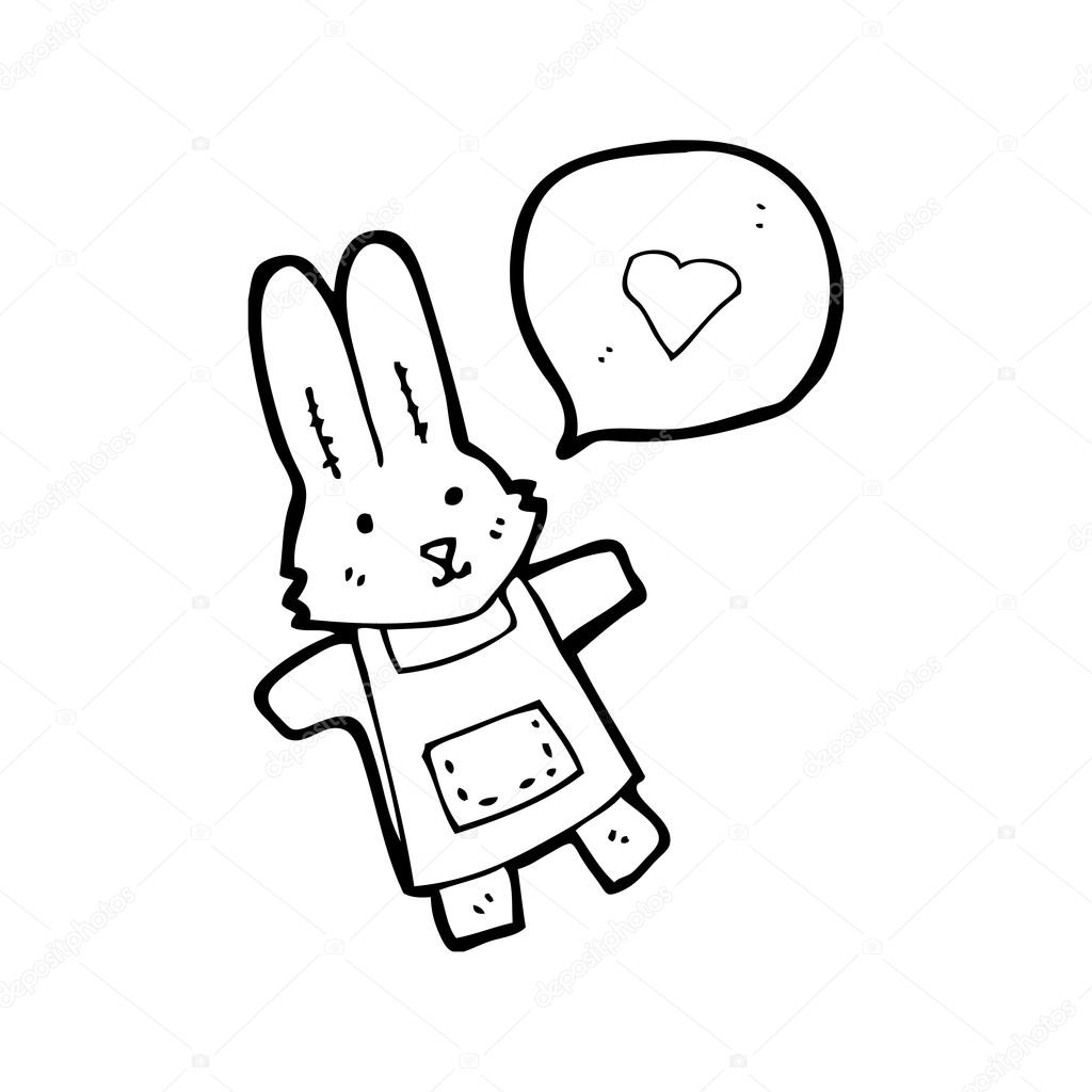 1024x1024 Rabbit In Apron Stock Vector Lineartestpilot