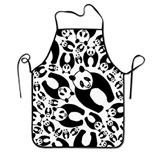 300x300 Unisex Kitchen Aprons Seamless Panda Chef Apron