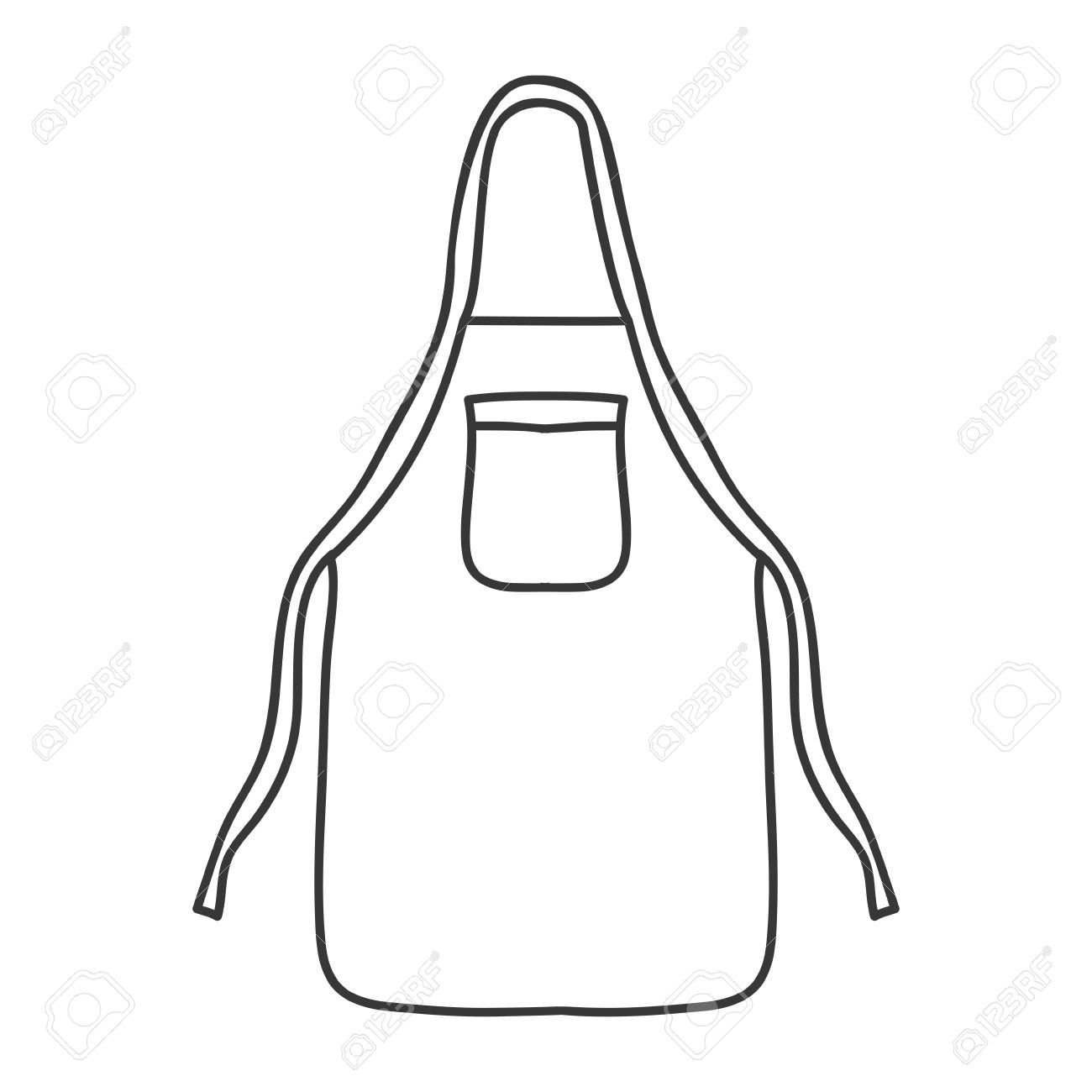 1300x1300 Silhouette Monochrome With Kitchen Apron Vector Illustration