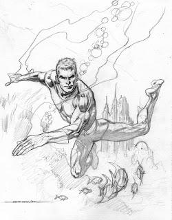 250x320 Kevin Nowlan Aquaman Drawing