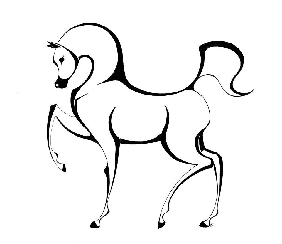 961x831 Arabian Horse By Bobbit95