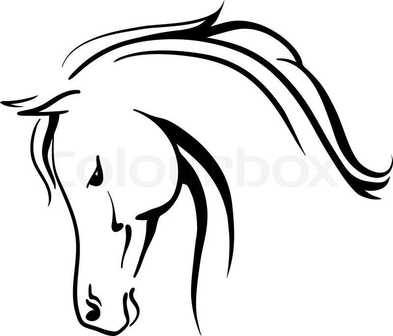 800x684 Clip Art Arabian Horse Stylised Head Stock Vector Colourbox