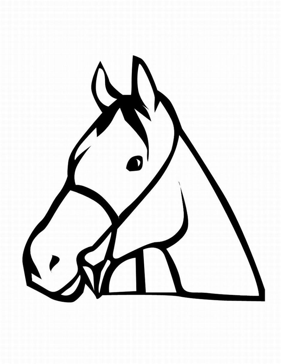 938x1213 Arabian Horse Head Clipart