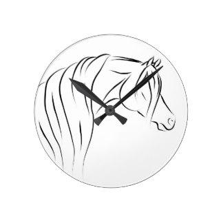 324x324 Arab Horse Wall Clocks Zazzle