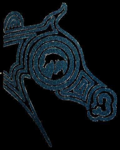 384x480 Arabian Half Maze Horse Head Tq Glitter Arabian Horse
