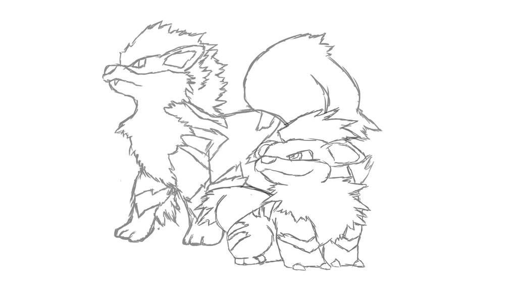 It's just a picture of Rare Growlithe Coloring Page