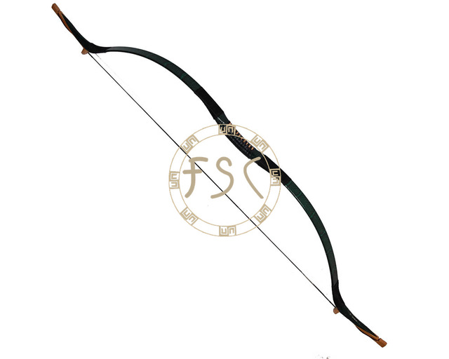 640x512 65lbs Diy Hunting Bow Green Snakeskin Archery Recurve Bow China