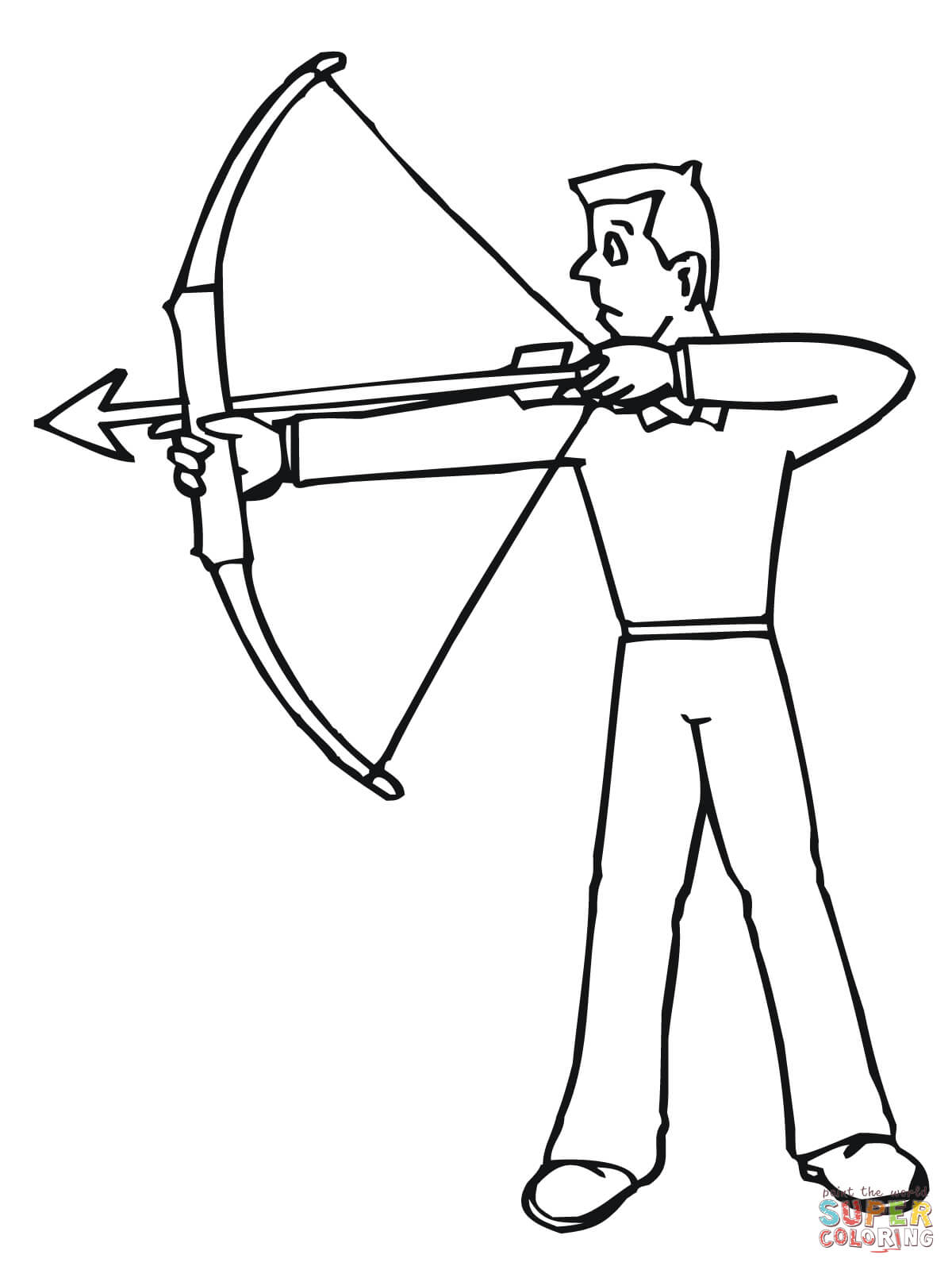 1200x1600 Archer Ready To Shoot Coloring Page Free Printable Coloring Pages