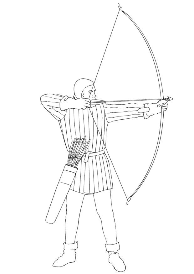 620x875 Coloring Page Archery