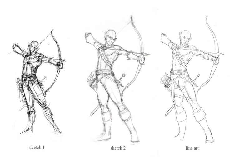 736x520 Archery Poses