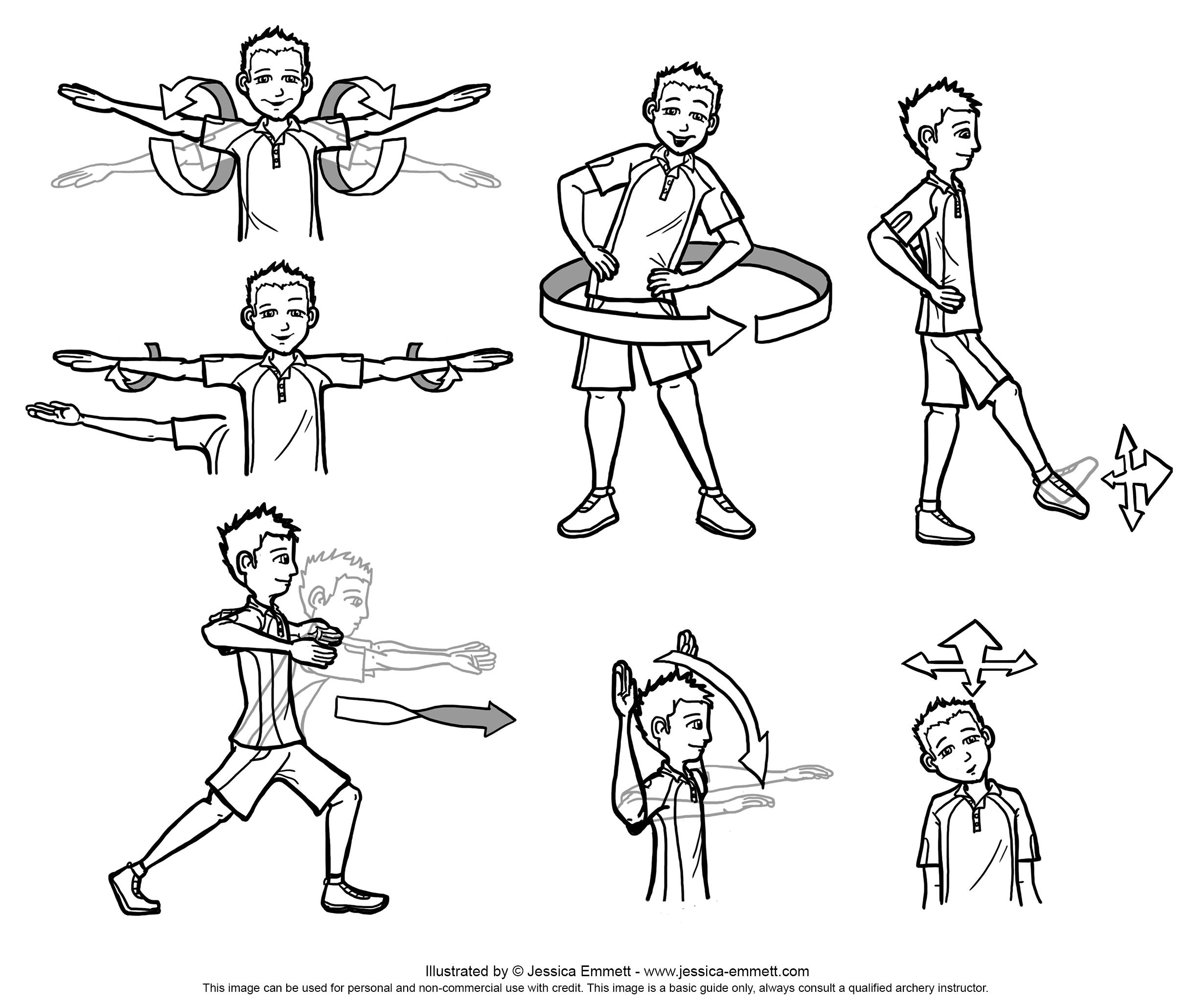 2434x2060 Archery Beginners Recurve Diagrams Jessica Emmett Illustrations
