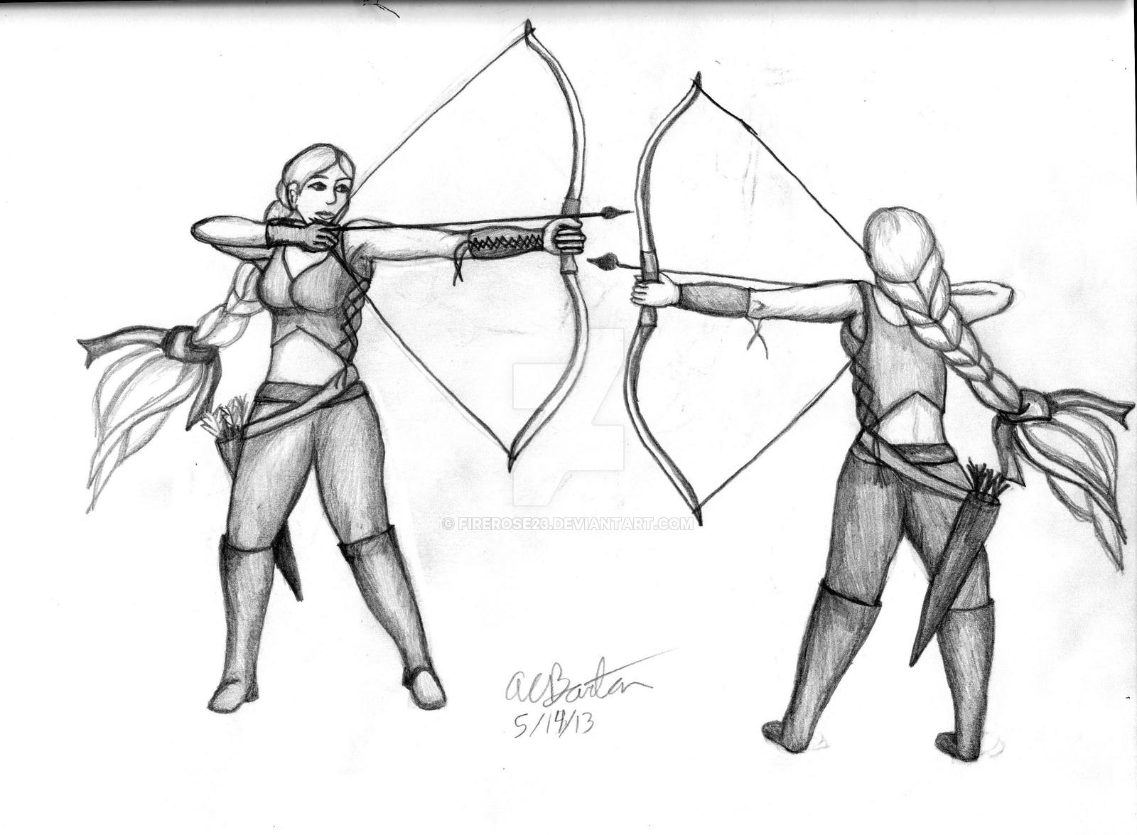 1600x1175 Archery Girl 001 By Firerose23