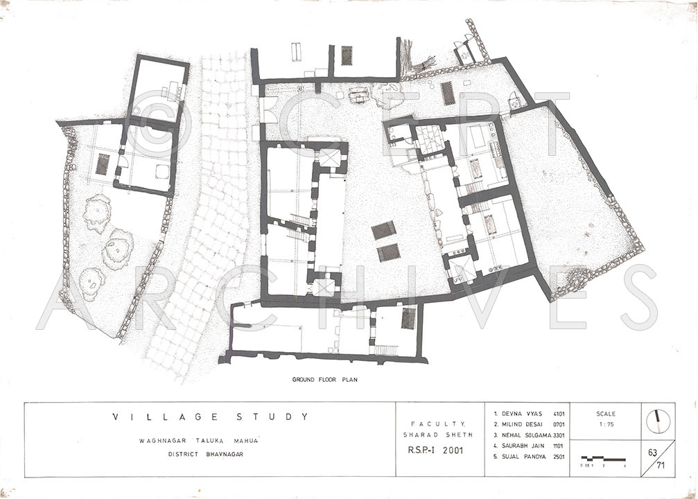 1007x720 Vaghnagar Village Study, Gujarat, India Architectural Drawings