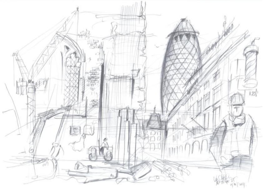 842x610 10 x 10 Famous Artists And Architects Draw The City Londonist